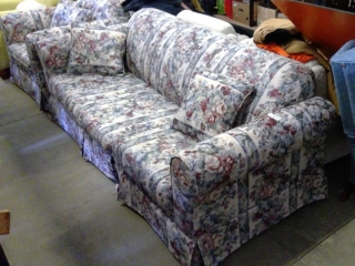 Clean Sofa Bed With Matching Chair