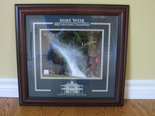 "Mike Weir 2003 Framed 18"" X 17"", Golfing Tapes"