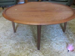 "42"" Round Teak Made In Canada Coffee Table"