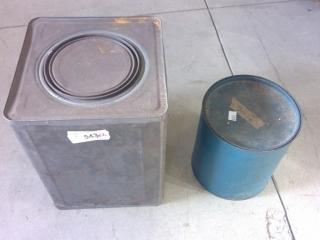 2 Vintage Tin