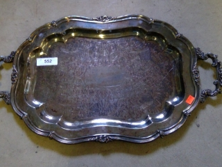 Large Silver Plate Platter