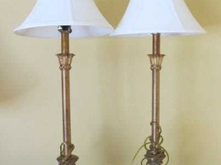 "Pair Of Table Lamps  30"" Tall"