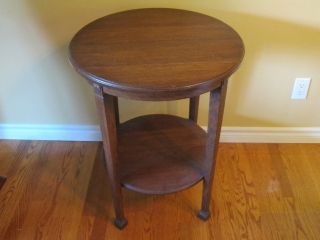 Oak Round Occasional Table
