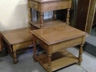 3 Maple Tables, Drop Leaf Coffee Table  2 End