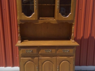 Solid Wood Maple China Cabinet