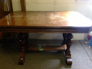 Double Pedestal Dining Table Only