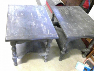 2 Solid End Tables Great D I Y Project
