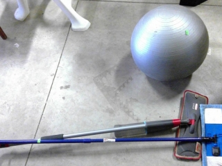 Exercise Ball, 2 Floor Cleaners