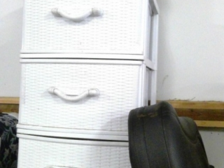 3 Drawer Storage Shelf, Back Massager