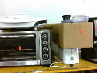 Lot Of Kitchen Items Toaster Oven, Forman Grill,