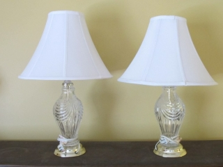 Pair Of Crystal Glass Table Lamps  24