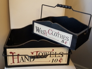 Hand Towels & Wash Cloths Wood Decor Baskets