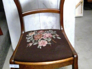 Victorian Needle Point Seat Chair