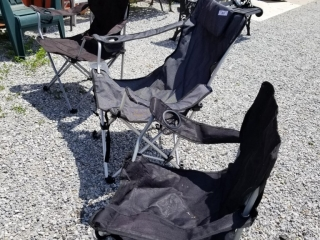 Lot To Include 3 Folding Lawn Chairs