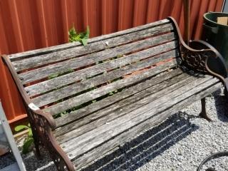 Cast Iron Bench. Needs Some Tlc
