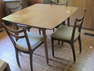 Teak Dinette Table With 5 Chairs  Diy Project