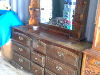 Long Dresser With Mirror. Good Diy Project! Comes