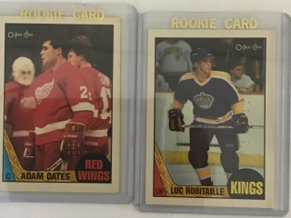 Rookie Cards Adam Oates, Luc Robitaille