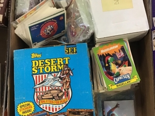 Topps Dessert Storm Wax Boxes, Spider Man Cards,