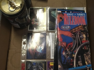 Harley Davidson Heavy Beer Cans X2, Misc Cards,