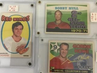 Gordie Howe, Bobby Hull, Marcel Dione 71-72