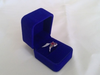 Woman?s Size 7 Ring Marked 925 Silver (red)