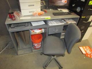 "60"" x 30"" service desk"