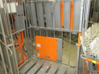 Galvanized collapsible stock carts