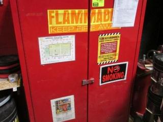 """43"""" x 18"""" x 65"""" 2-door flammables cabinet"""