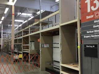 """(12) 99"""" and (1) 51"""" sections of Interlake warehouse racking with wood decking, 3' x 16'"""