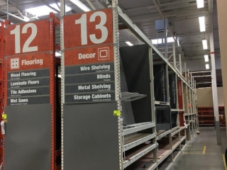 """99"""" sections of Interlake warehouse racking with wood decking, 3' x 16', 3-1/4"""" crossbars"""