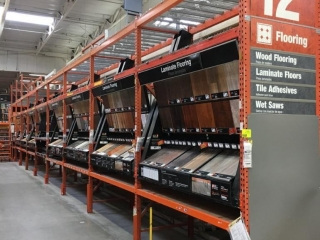 """99"""" sections of Interlake warehouse racking with wood decking, 3' x 12', 3"""" crossbars"""