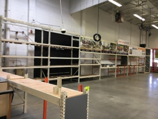 """(7) 99"""" and (1) 75"""" sections of Interlake warehouse racking with wood decking, 3' x 12'"""
