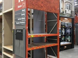 "Assorted Interlake individual warehouse racking, 24""-42""d x 12'-16'h"