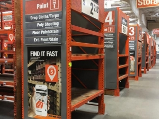Assorted Interlake individual warehouse racking, 4' x 12'