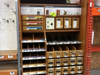 Cabinet hardware display rack