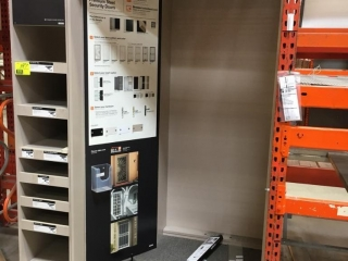 "64"" x 38"" x 96"" display cabinet"
