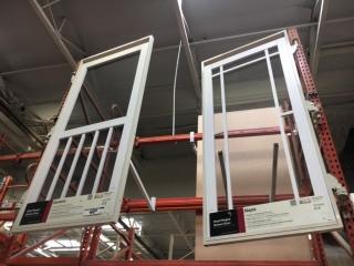 """42"""" x 84"""" door display swing out racks with (2) screen doors"""