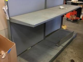 """48"""" x 28"""" x 62"""" 2-tier wall shelves"""
