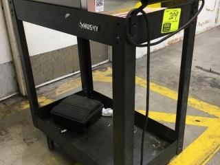 "28"" x 16"" x 33"" Husky 2-tier cart"