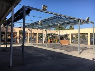 40' x 30-1/2' x 13' garden center retractable shade canopy