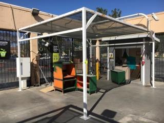 15' x 18' x 10' garden center retractable shade canopy