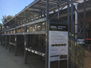 """99"""" sections of Interlake galvanized teardrop warehouse racking with metal wire decking"""