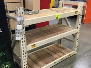 "51"" x 24"" x 48"" Interlake warehouse racking with wood decking, 3-1/2"" crossbars"