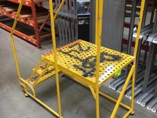 "52"" x 26"" x 60"" yellow 3-step stock ladder"