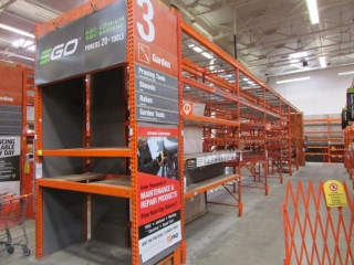 """(12) 99"""" and (2) 75"""" sections of Interlake warehouse racking with wood decking, 3' x 12'"""