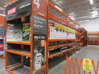 """(12) 99"""" and (2) 75"""" sections of Interlake warehouse racking with wood decking"""