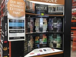 Behr paint chip display rack