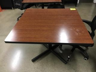 "42"" x 42"" wood grain tables"