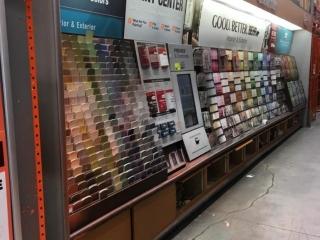 Behr Color Smart interactive paint chip display rack